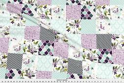 Mermaids Mermaid Purple Mermaids Baby Blanket Fabric Printed