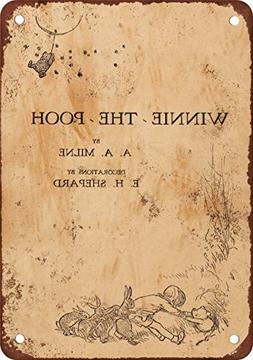 """9"""" x 12"""" Metal Sign - 1926 Winnie the Pooh First Edition - V"""