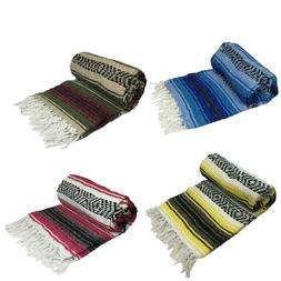 Mexican Blanket Falsa Woven Yoga Throw Sarape Seat Cover Thr