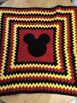"Mickey Mouse Baby Blanket Handmade Crochet 30"". Baby Showe"