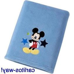mickey mouse baby blanket kids blue character
