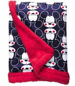Disney Mickey Mouse Baby Blanket, Mickey Heads All Over Prin