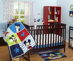 Disney  Mickey  Mouse 3 -piece Crib Bedding Set