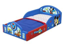 Disney Mickey Mouse Deluxe Toddler Bed with Attached Guardra