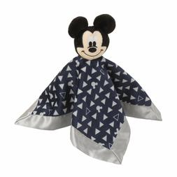 Disney Mickey Mouse Lovey Security Blanket, Navy/Grey