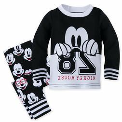 Disney Store Mickey Mouse PJ Pals Pajamas Baby Boys Size 0 3