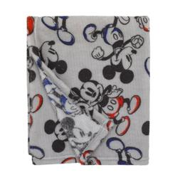 """Disney Mickey Mouse Super Soft Baby Blanket 30"""" x 40"""" - See"""