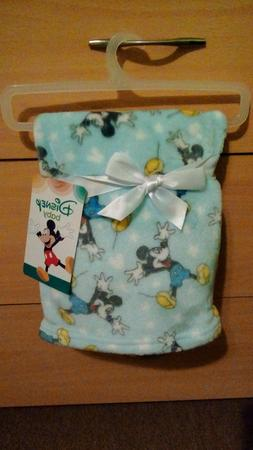 **DISNEY BABY MICKEY MOUSE SUPER SOFT FLANNEL BABY BLANKET**