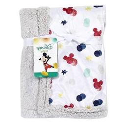 Disney Baby Mickey Mouse Super Soft Mink Sherpa Blanket  30x