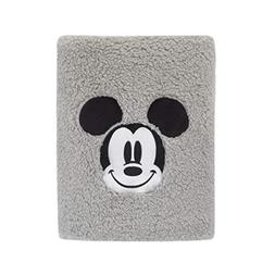 Disney Mickey Mouse Super Soft Plush Sherpa Baby Blanket wit