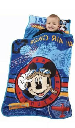 Disney Mickey Mouse Toddler Sleeping Bag Travel Nap Mat Chil