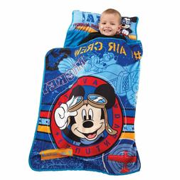 Disney Mickey's Toddler Rolled Nap Mat, Flight Academy - See