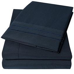 EM Imports Microfiber Bed Sheets Set: LUXURY 1800 Supreme Lo