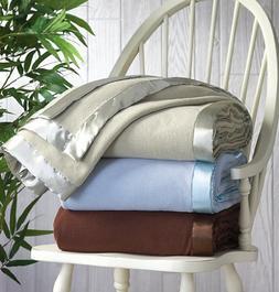 Microfleece Blanket with Satin Binding King Chocolate