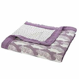 Milkbarn Bamboo and Cotton Big Lovey Baby Blanket Lavender H