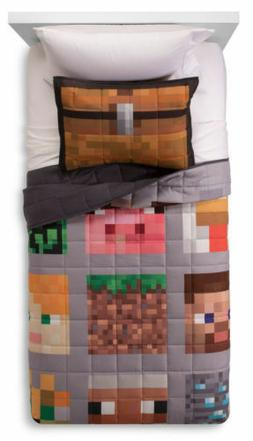 Minecraft Twin/Full Quilt and Sham brand new Boy Girl Beddin