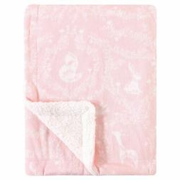 Yoga Sprout Mink Blanket with Sherpa Backing, Lace Garden, O