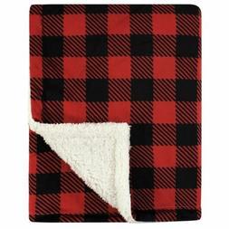 Hudson Baby Mink Blanket with Sherpa Backing, Buffalo Plaid