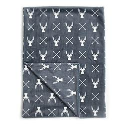 "Kids N' Such Minky Baby Blanket 30"" x 40"" - Deer - Soft Swad"