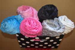 Minky Baby Blanket Minky Dot Crib Bedding