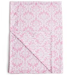 "Kids N' Such Minky Baby Blanket 30"" x 40"" - Pink Damask - So"