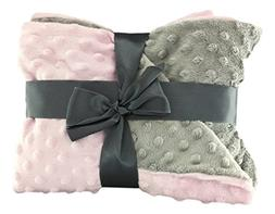 luvfabrics Minky Dot Baby Blanket Double Sided Throw Light P