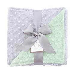 MEG Original Minky Dot Baby Blanket Green/Gray