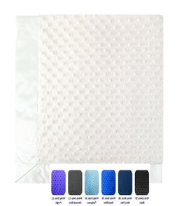 Minky Dot Baby Blanket throw, double sided toddler bedding,