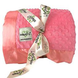 My Blankee Minky Dot King Blanket with Flat Satin Border, Co