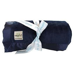 My Blankee Minky Super Throw Blanket with Flat Satin Border,