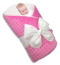 Bundlebee Baby Minky Wrap/Swaddle/Blanket - Built-in Organic