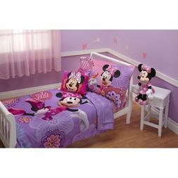 Disney Minnie Mouse 4-Piece Toddler Bedding Set Fluttery Fri