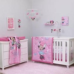 Disney Minnie Mouse 4PC Crib Bedding Set All About The Bows