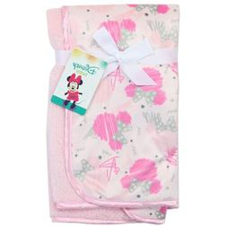 Disney Minnie Mouse Double Sided Sketchy Icon Printed Mink F
