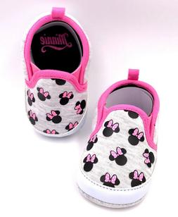 Disney Baby Minnie Mouse Girls Newborn Infant Prewalker Soft