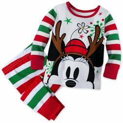 Disney Store Minnie Mouse Pajamas Baby Girls Size 0 3 6 9 12