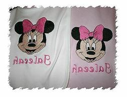 Minnie Mouse Personalized Baby Infant Toddler Bib & Blanket