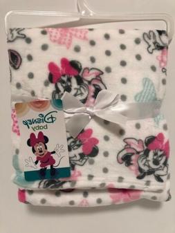 Disney Minnie Mouse Single Sided Flannel Fleece Blanket, Bow