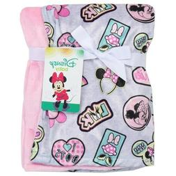 """Minnie Mouse Super Soft Baby Blanket Colors: Pink. Size: 30"""""""