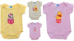 Disney Minnie Pooh Pink Bodysuit Short Sleeve Newborn Baby G
