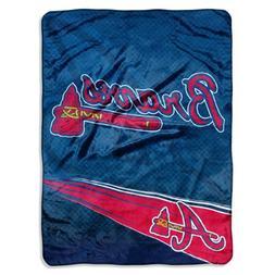 MLB Atlanta Braves Speed Plush Raschel Throw Blanket, 60x80-