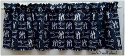 MLB Baseball NY New York Yankees Handmade Window Curtain Val