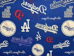 MLB Los Angeles Dodgers Baseball Cotton Quilt Fabric~Coopers