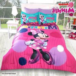 MINNIE MOUSE BEAUTIFUL Comforter Reversible Girl QUEEN Princ