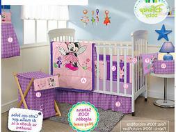 Minnie Mouse Crib Bedding Set Sheets x5 Comforter Bumper Pur