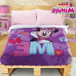 Minnie Mouse Fleece Blanket SHERPA SOFT GIFT Comforter FULL