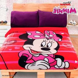 Minnie Mouse Fleece Blanket SHERPA SOFT GIFT Comforter FULL