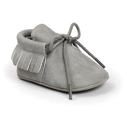 Itaar Baby Moccasins PU Leather Crib Shoes Lace Up Soft Sole