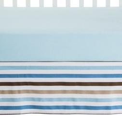 Bacati Mod Toddler/Crib Skirt, Blue/Diamonds/Aqua/Chocolate