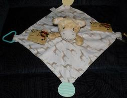 MODERN BABY SECURITY BLANKET GIRAFFE BABY TEETHER RATTLE BEA